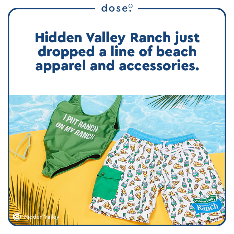 The summer merch line is currently available on the salad dressing brand's website, featuring bathing suits, swim trunks and other oceanside essentials.