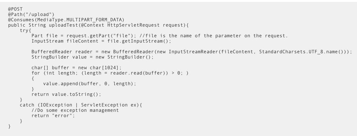 Multipart File Upload Java