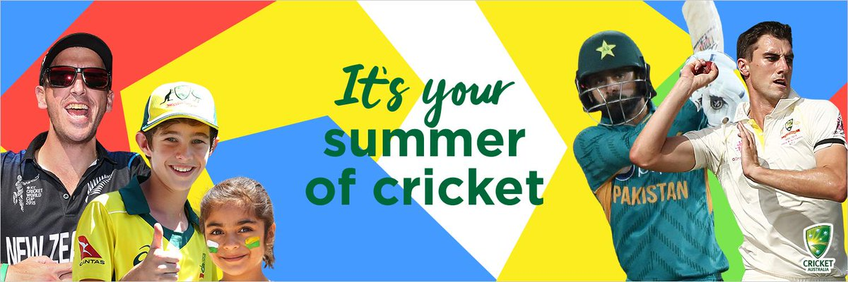 You can purchase your cricket tickets for the summer now! 🏏  🇦🇺 v 🇵🇰 Gillette T20 INTL Series Australia v Pakistan 👉 http://bit.ly/30DC1LN 🇦🇺 v 🇳🇿 Domain Test Series Australia v New Zealand 👉 http://bit.ly/30DC1LN