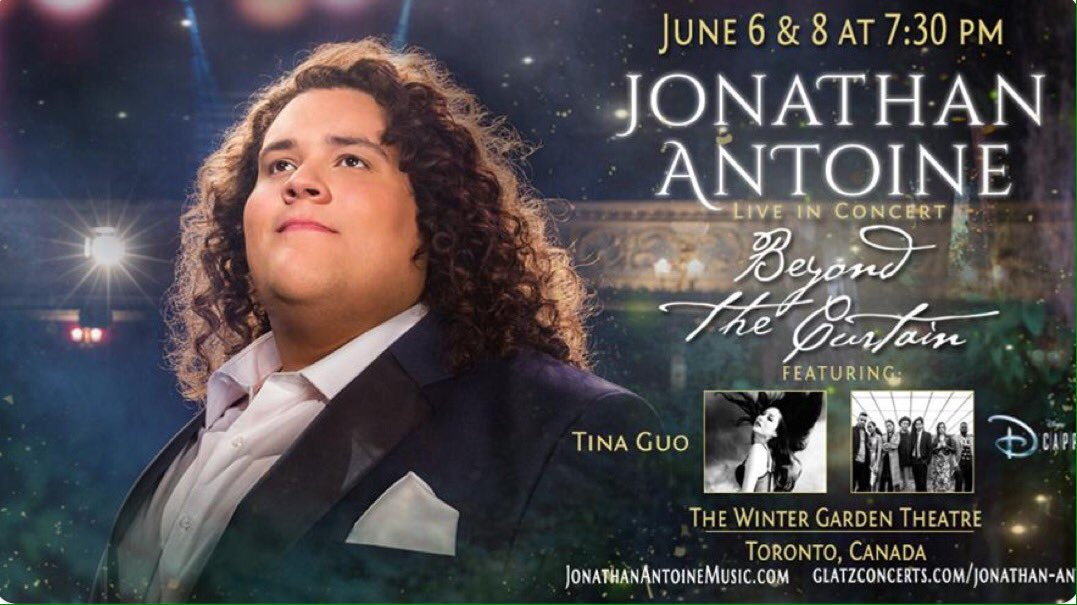 @JonAntoine Two weeks today and your first concert in #Toronto will be imminent! Can you believe it has come round so fast?  #lovelivemusic #june6and8 ❤️ You've hardly been back for five minutes and soon you'll be flying off again! @Tinaguo @DCappellaMusic