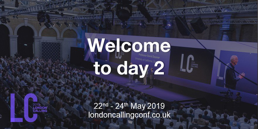 Breakfast and another packed agenda awaits in London - let's get this show started #nanoporeconf