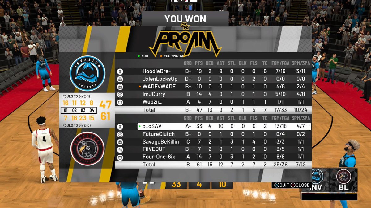 GGs Invasion E sports as we advance to elite 8 of @WRproamleague MSI !  @2kCompGames @ayo_RANKem<br>http://pic.twitter.com/uGhCy909Vc