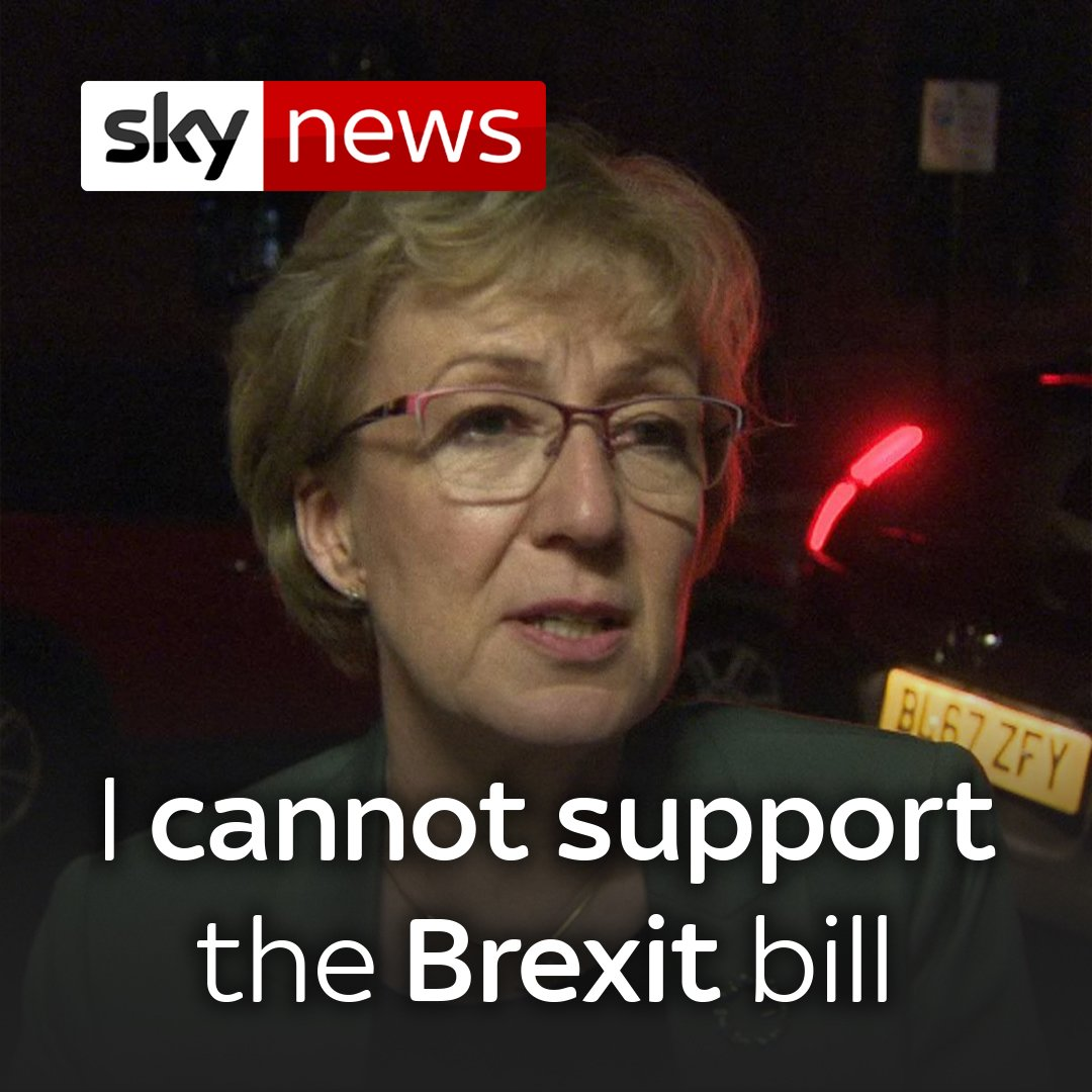 Brexiteer minister @andrealeadsom has resigned, saying she 'cannot support' @theresa_may 's Withdrawal bill.   Read more on the PM's future here: http://po.st/HFXwkP