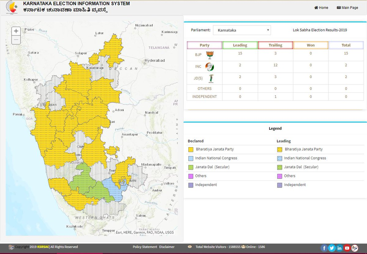 For Exclusive LIVE Mapping of LokSabha Election Results 2019 Click on