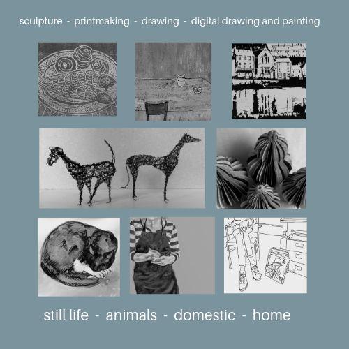 #arts #derbyshireopenarts2019 #practice #medium #genre #sculpture #printmaking #drawing #digitalartwork #stilllife #animals #domestic #home #Derbyshire #wirksworth
