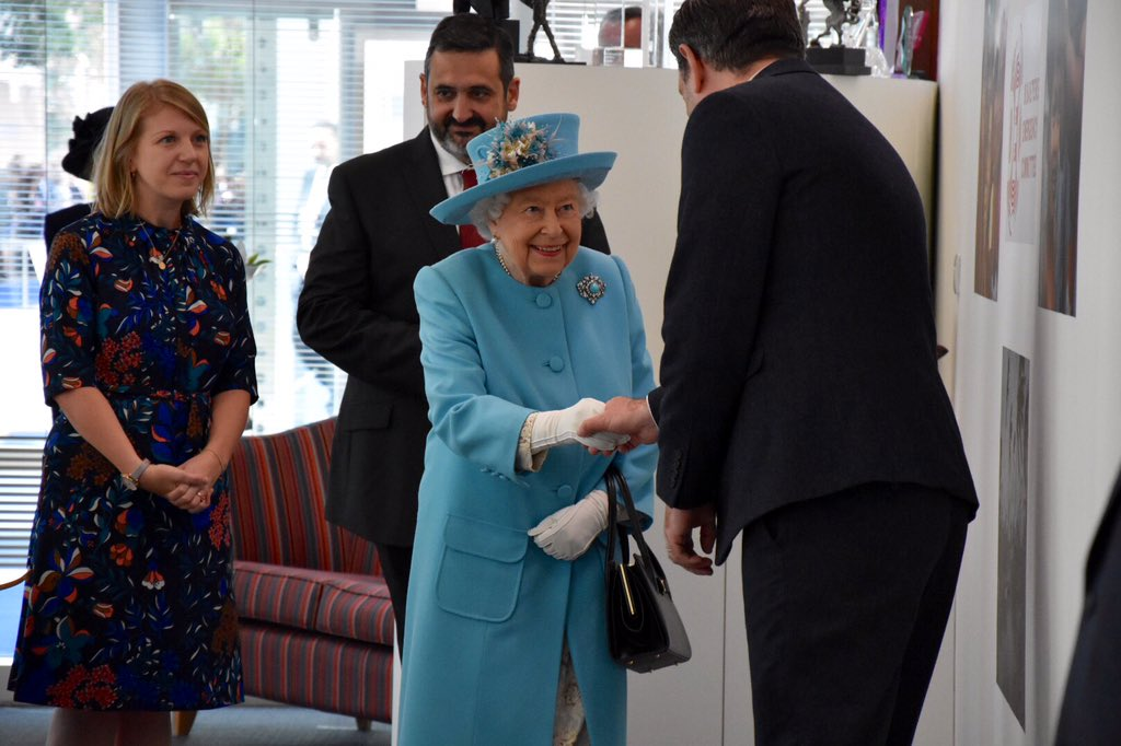 British Airways staff involved in the company's Flying Start programme tell The Queen more about the partnership with @ComicRelief which helps children and young people in the communities which BA fly to.   The initiative has provided aid for over 620,000 people globally.