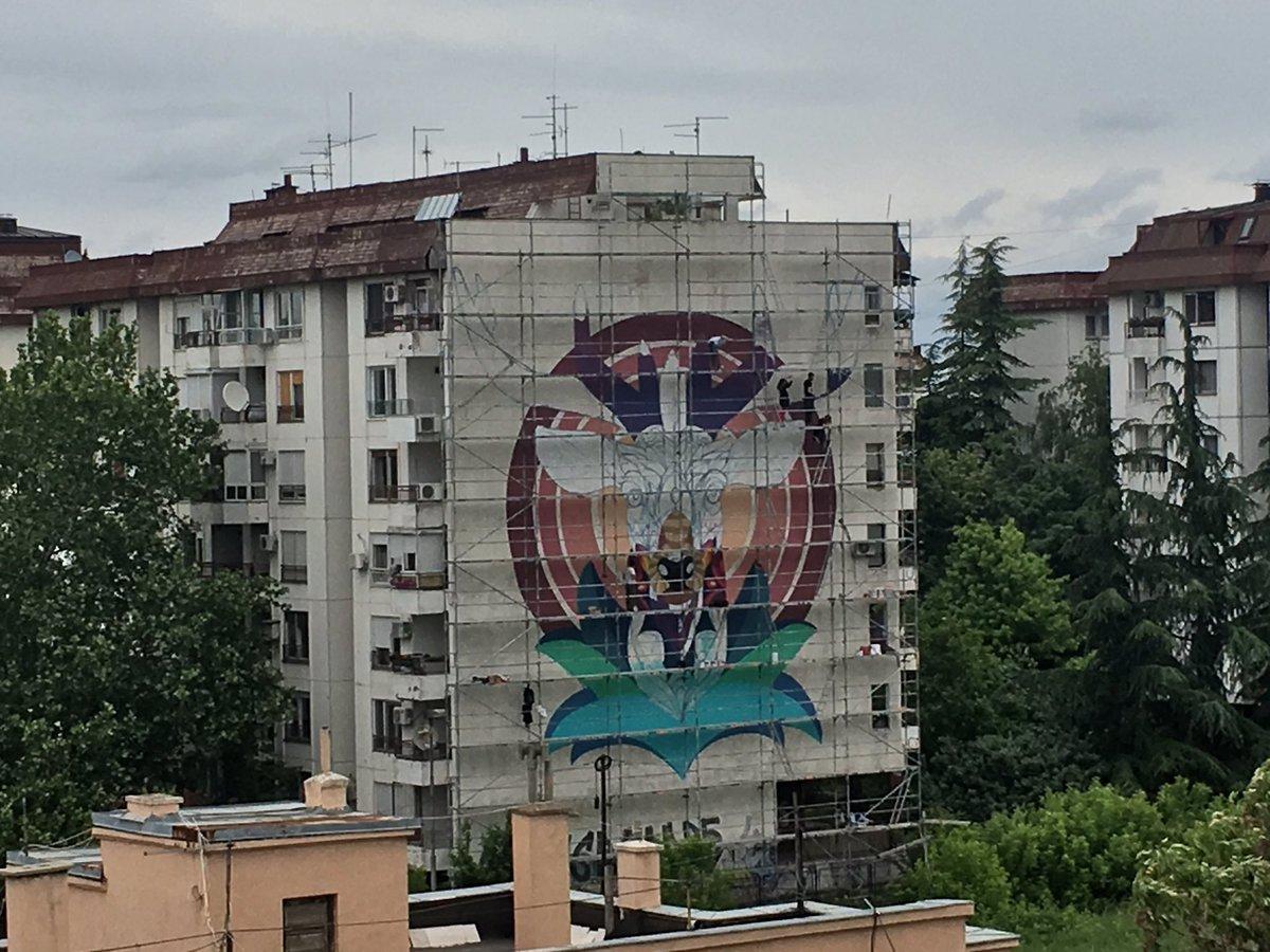 Pratiću kako nastaje #mural