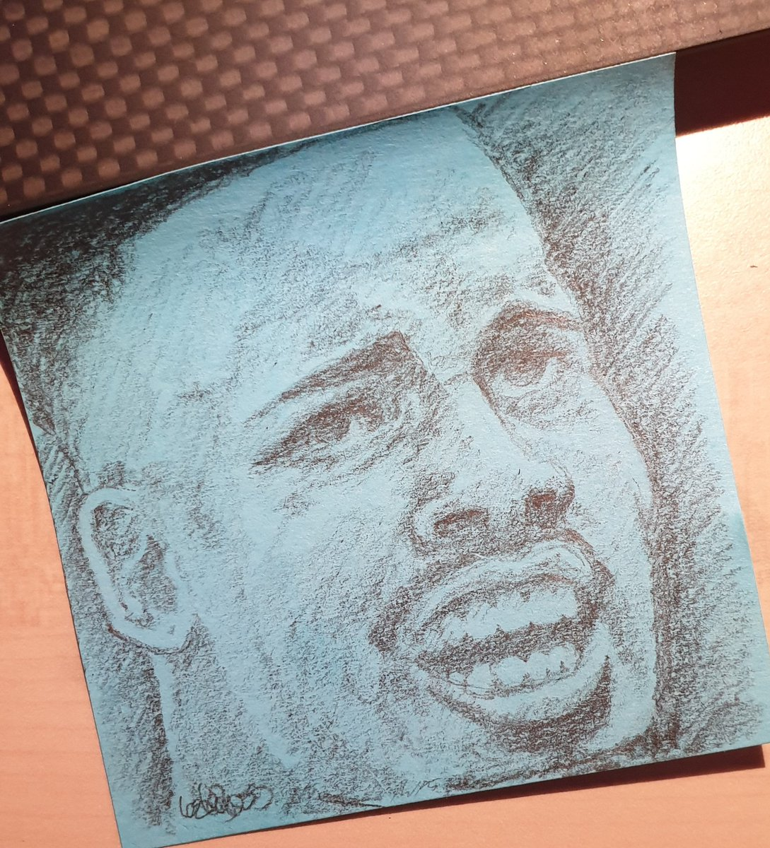 Post it note Gabby sketch. Things to do when a Q&A session is on. #eventslife #mancity #sketch #art #pencil