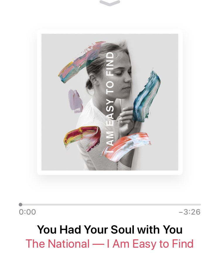 After a week of constant listening to #iameasytofind yet again ⁦@TheNational⁩ have smashed it. Solid 9/10 #albumoftheyear <br>http://pic.twitter.com/91cg0lnaiH