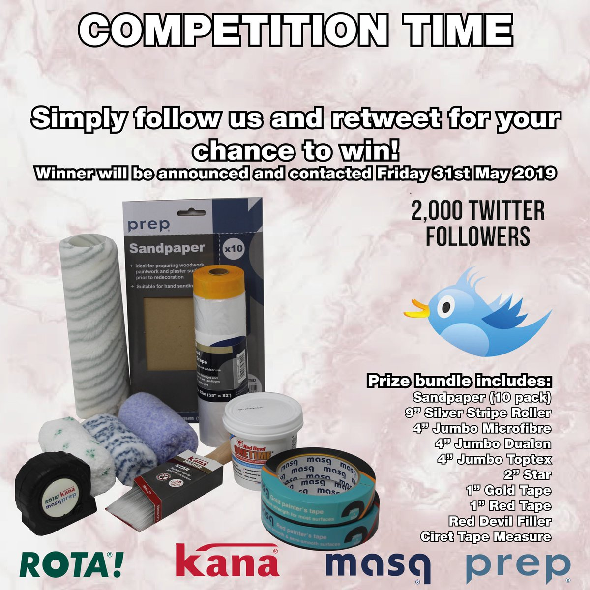 2000 Followers giveaway!   As a thank you for us reaching 2000 followers we are going a giveaway! Simply follow us and retweet for your chance to win! Winner will be announced and contacted Friday 31st May 2019   Good luck! #CompetitionTime <br>http://pic.twitter.com/vr3Rl97DNR