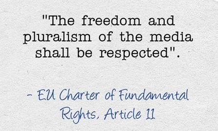 Ahead of #EuropeanElections, important reminder: #MediaFreedom and #MediaPluralism are fundamental rights!  #EU #EP2019 <br>http://pic.twitter.com/doybWbq2EZ