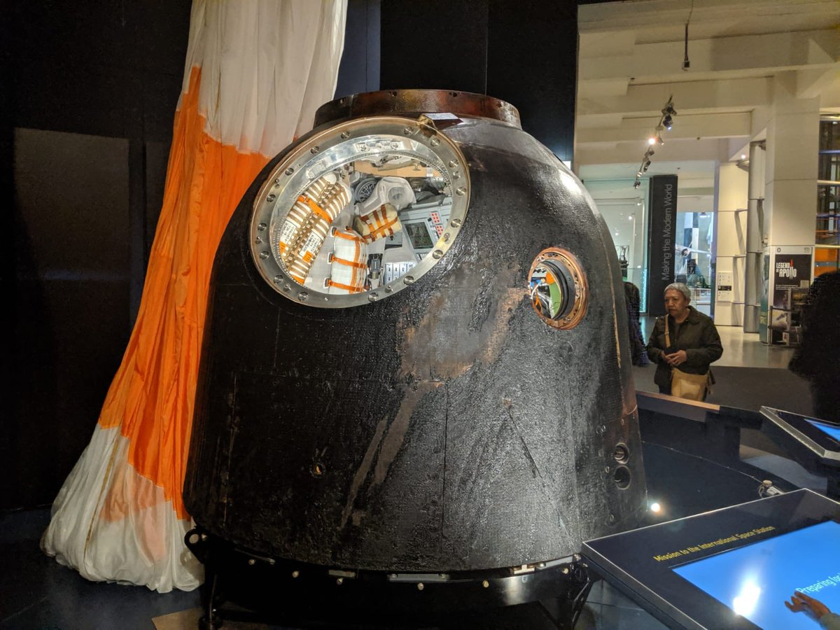 This morning, we are excited to be welcoming back Soyuz at the museum! Stay tuned for a very special announcement  #SoyuzTour<br>http://pic.twitter.com/Aq5SYT8TF2