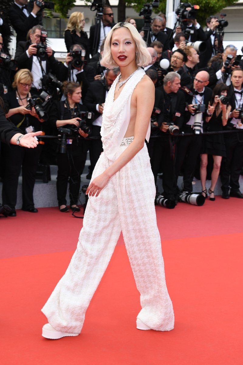 #CHANELinCannes — from a final fitting in the CHANEL suite to the red carpet, follow the House ambassador Soo Joo Park's #Cannes2019 journey wearing a look from the #CHANELFallwinter 2019/20 collection. #CHANELinCinema More on http://chanel.com/-T_Cannes19