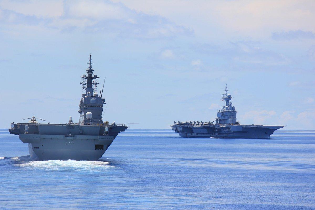 【平成31年度インド太平洋方面派遣訓練(IPD19)】5月22日、IPD19は、日仏豪米共同訓練????????を円滑に終了しました。海上自衛隊は本訓練を通じて、各国海軍との連携強化を図るとともに、地域の平和と安定に寄与し、各国との相互理解の増進及び信頼関係の強化を図りました。#精強 #即応 #海の友情