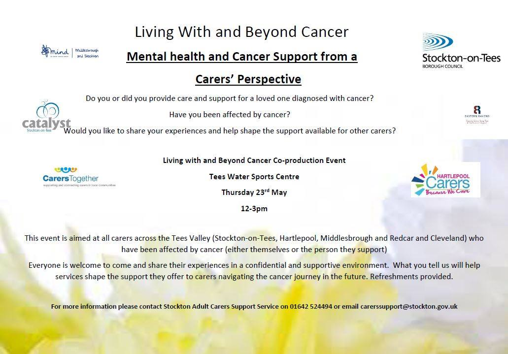 Today at Tees Water Sports Centre, co-production event. If you have supported someone affected by cancer please join us to share your experiences #LWBC #StocktonCares <br>http://pic.twitter.com/LuBuMKOoqM