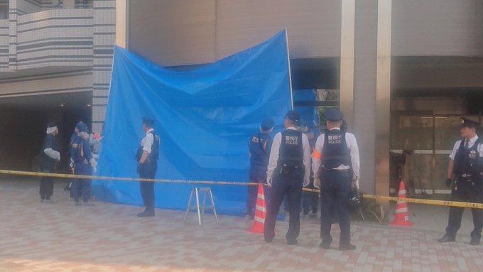 東新宿の抜弁天付近で殺人未遂事件の現場画像