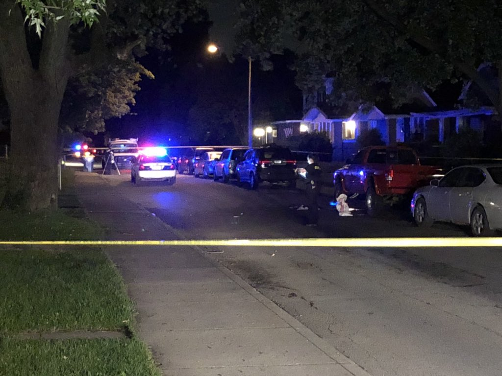 IMPD: A man was found in the street with the laceration. He was treated by medics at the scene and was on his way to the hospital when he passed away. Officers believe the man was involved in a fight in the area before being cut. #NewsTracker #Daybreak8 <br>http://pic.twitter.com/0ntebnE5UQ