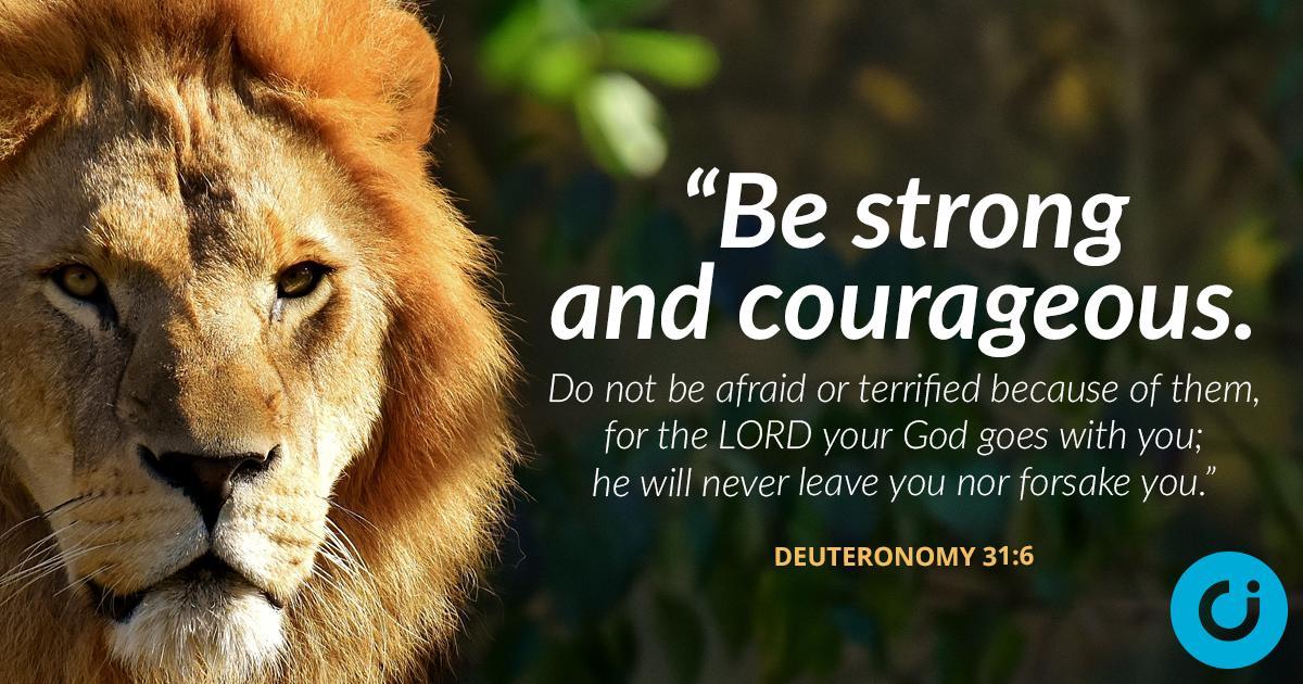 "The Christian Institute on Twitter: ""Deuteronomy 31:6 #WednesdayWisdom  #courage #strength… """