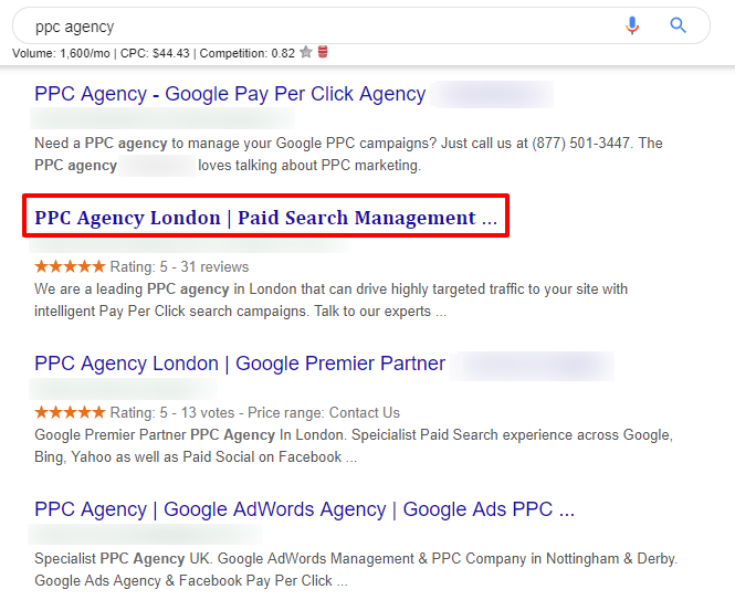 Interesting SEO title tag hack here. Bolded and Courier New font being pulled through to SERP? Fair method of increasing CTR, or too grey hat..<br>http://pic.twitter.com/vFhwCOqP6m