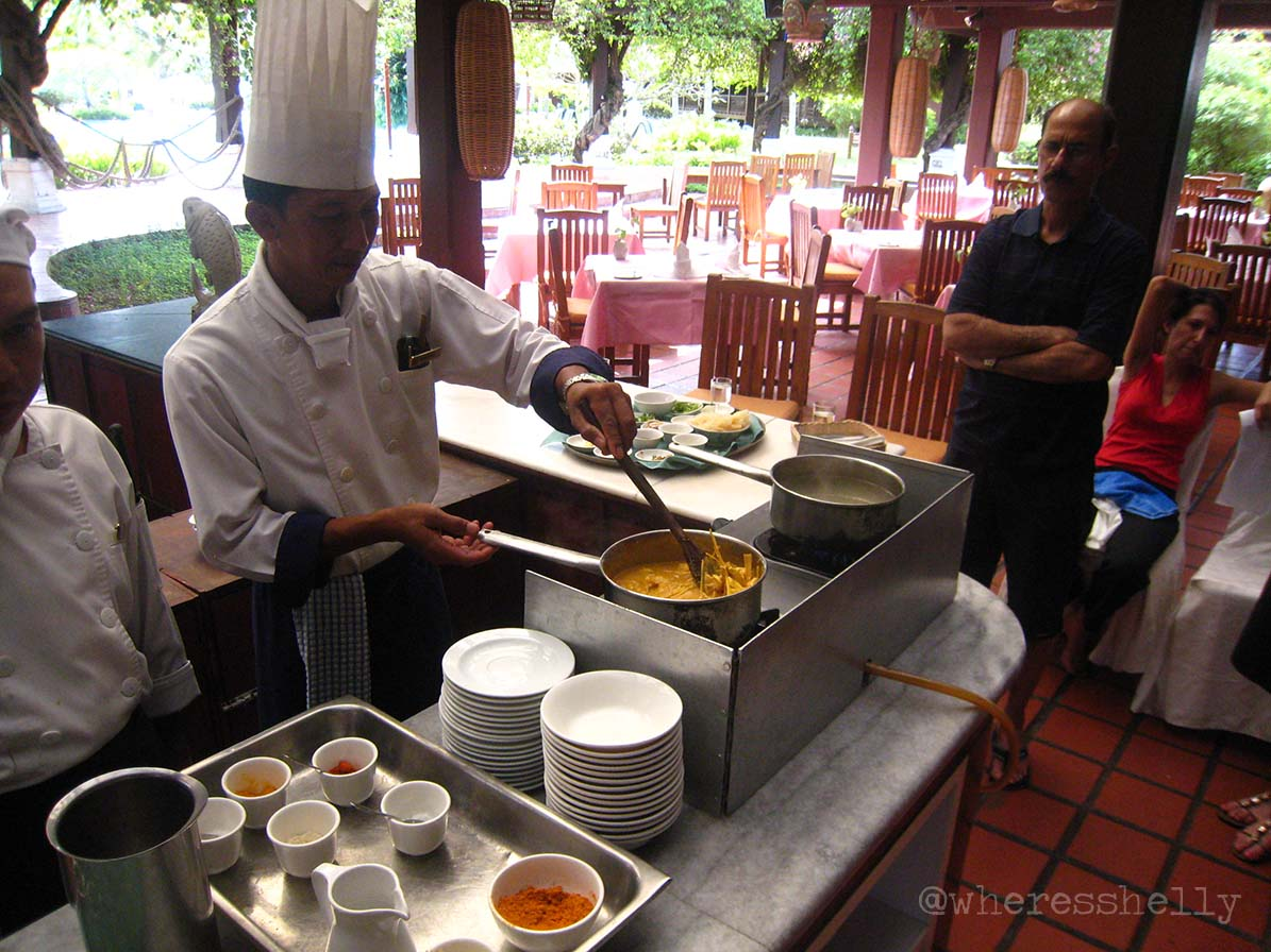 A1: Did a cooking class in Thailand and one in Langkawi. Can now cook a cracking Thai Green Curry and a Malaysian White Fungus Salad (tastes better than it sounds!) #DCtravchat<br>http://pic.twitter.com/mJg0amxtda