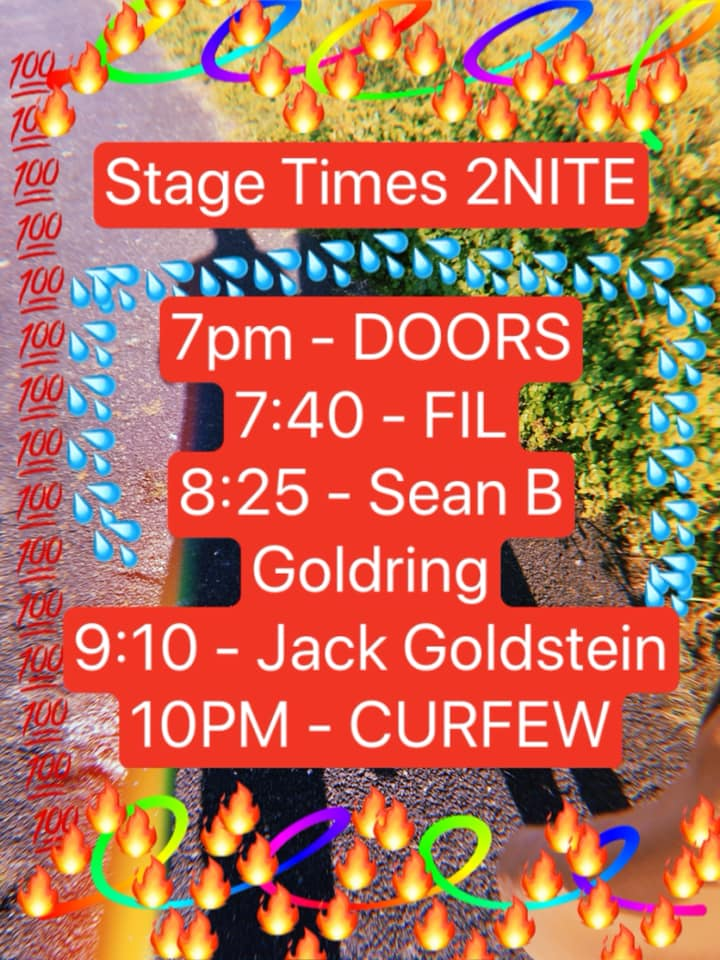 Stage times for tonight's gig at 101! Jack Goldstein's lo-fi experimental puke-pop with Sean Bekker Goldring and FIL Filipe Gomes. Doors 7pm. Suggested £4 on door [no one turned away for lack of funds] #101socialclub