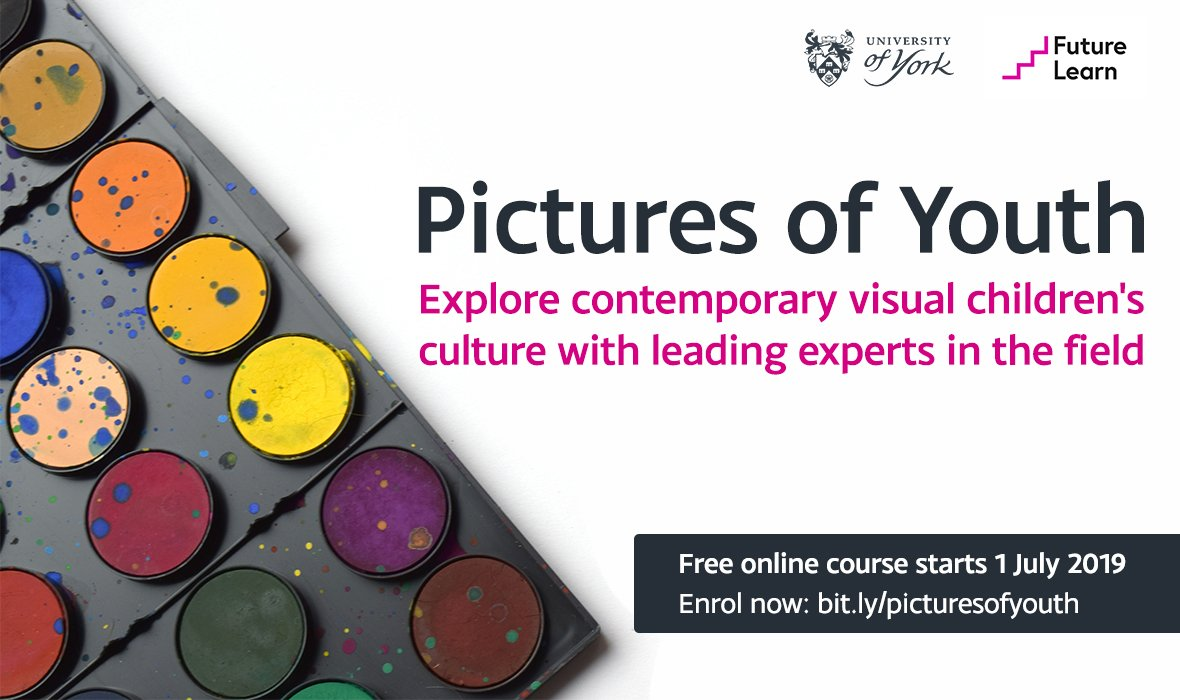 Explore, understand and analyse the development and consumption of children's visual culture. Sign up for our free online course with @FutureLearn: http://bit.ly/picturesofyouth  🎨