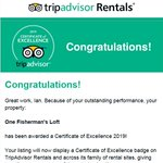 Image for the Tweet beginning: We got our TripAdvisor Certificate
