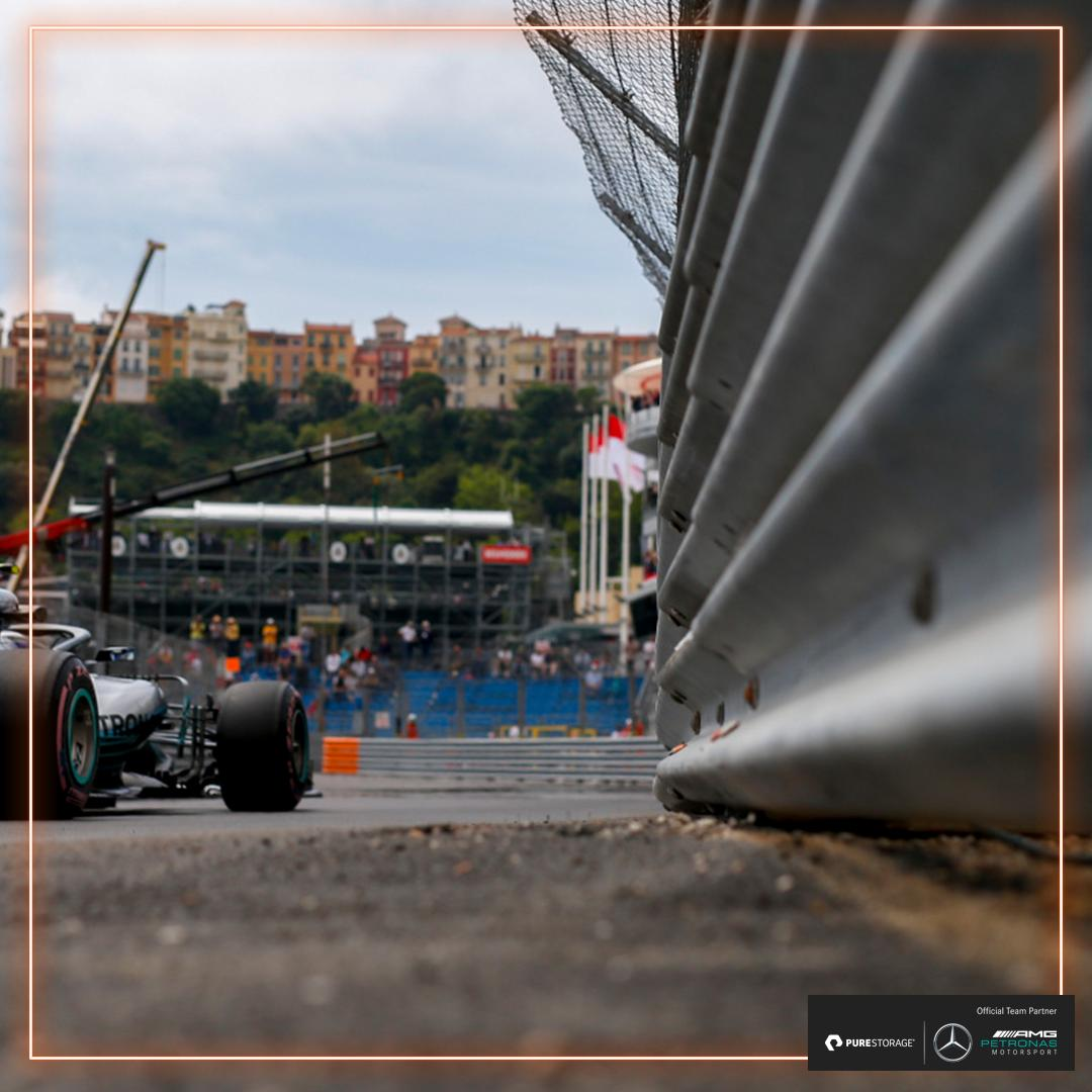 #FP1 30/90 MINS: Out of the box and straight to the top! ⚡️  Both @MercedesAMGF1 drivers topping the early stages of FP1 💪  P1 #LH44 1:13.624 P2 #VB77 1:13.706  #UnfairAdvantage 🇲🇨 #MonacoGP