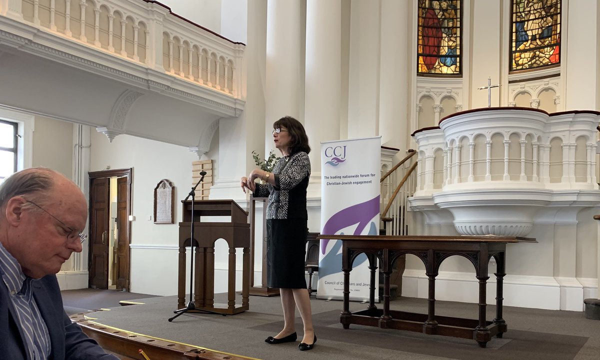 Great to be @CCJUK seminar on Christian preaching and relationships with the Jewish community led by Amy-Jill Levine