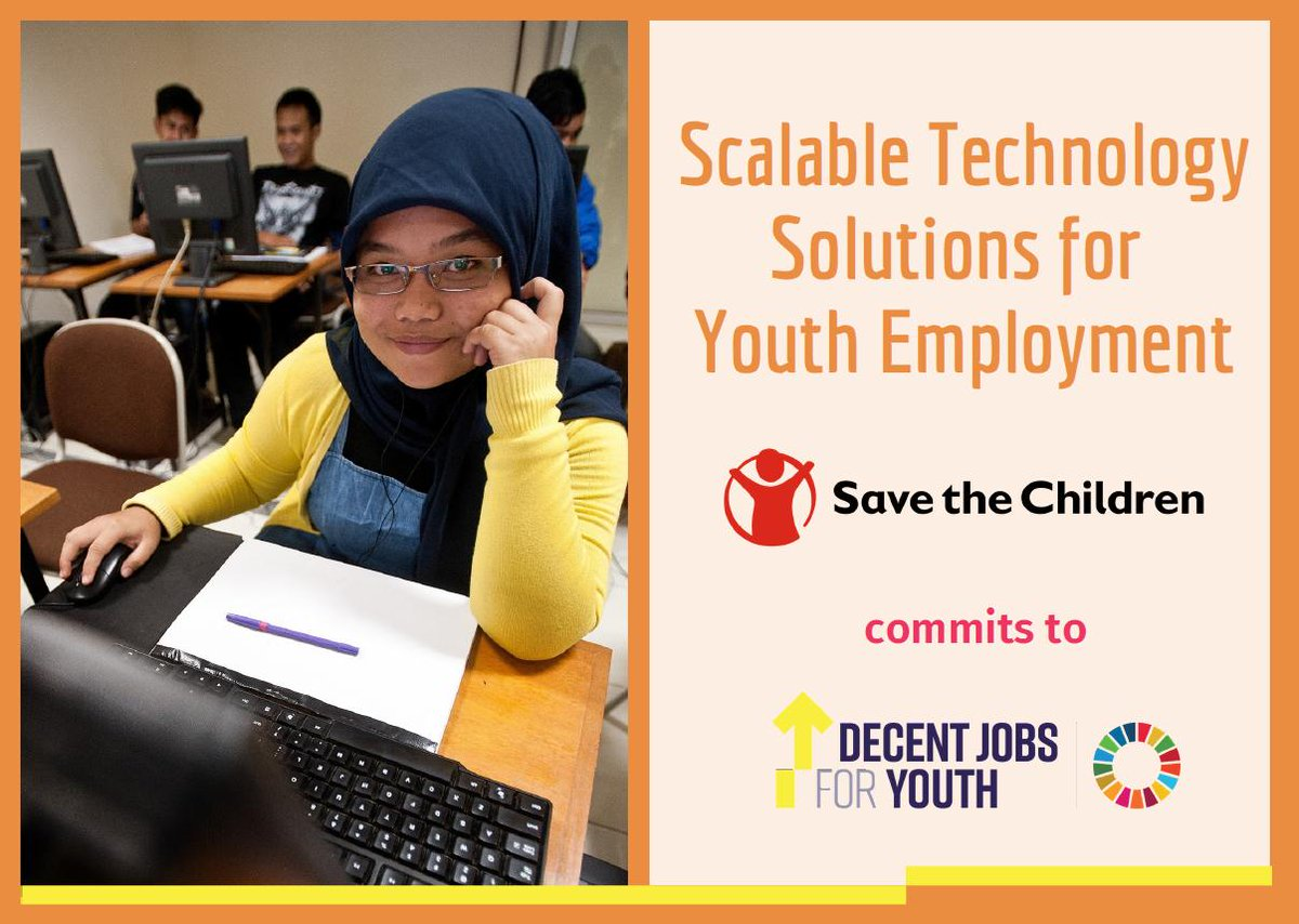 The Global Initiative on #DecentJobsForYouth welcomes the commitment of @SavetheChildren to create scalable and sustainable technology solutions for marginalized and vulnerable #youth in #Mexico #Bangladesh #Indonesia #Vietnam & #Italy  👉 https://bit.ly/30D5o0x
