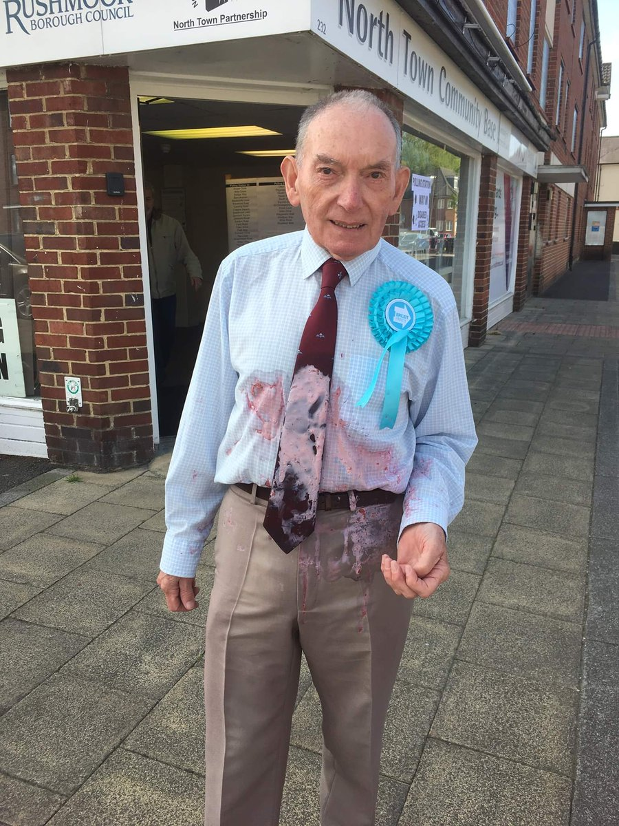 This is an old friend....Don, a veteran of 22 years service in the Parachute Regiment in Aldershot...the Home of the British Army, attacked by some lowlife who isn't fit to walk in Don' s shoes.@COLRICHARDKEMP @jamesdeeganMC @brexitparty_uk