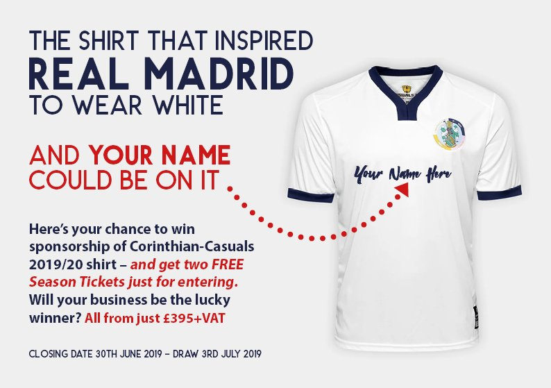 d3c39e424 Will your business be the lucky winner  From just £395+VAT  http   www.corinthian-casuals.com sponsordraw.html …pic.twitter .com tZJS7HgXxi