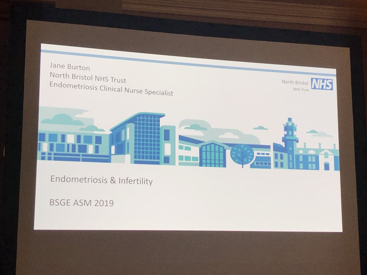 The @NorthBristolNHS Clinical nurse specialist @JaneBurton5 presenting to a packed room at the #bsge2019 ASM on the impact of endometriosis and infertility #nbtproud