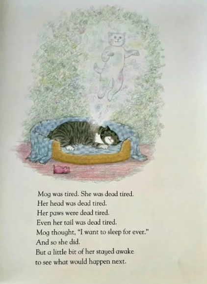 I will carry on believing that a little bit of Judith Kerr is staying awake to see what happens next.