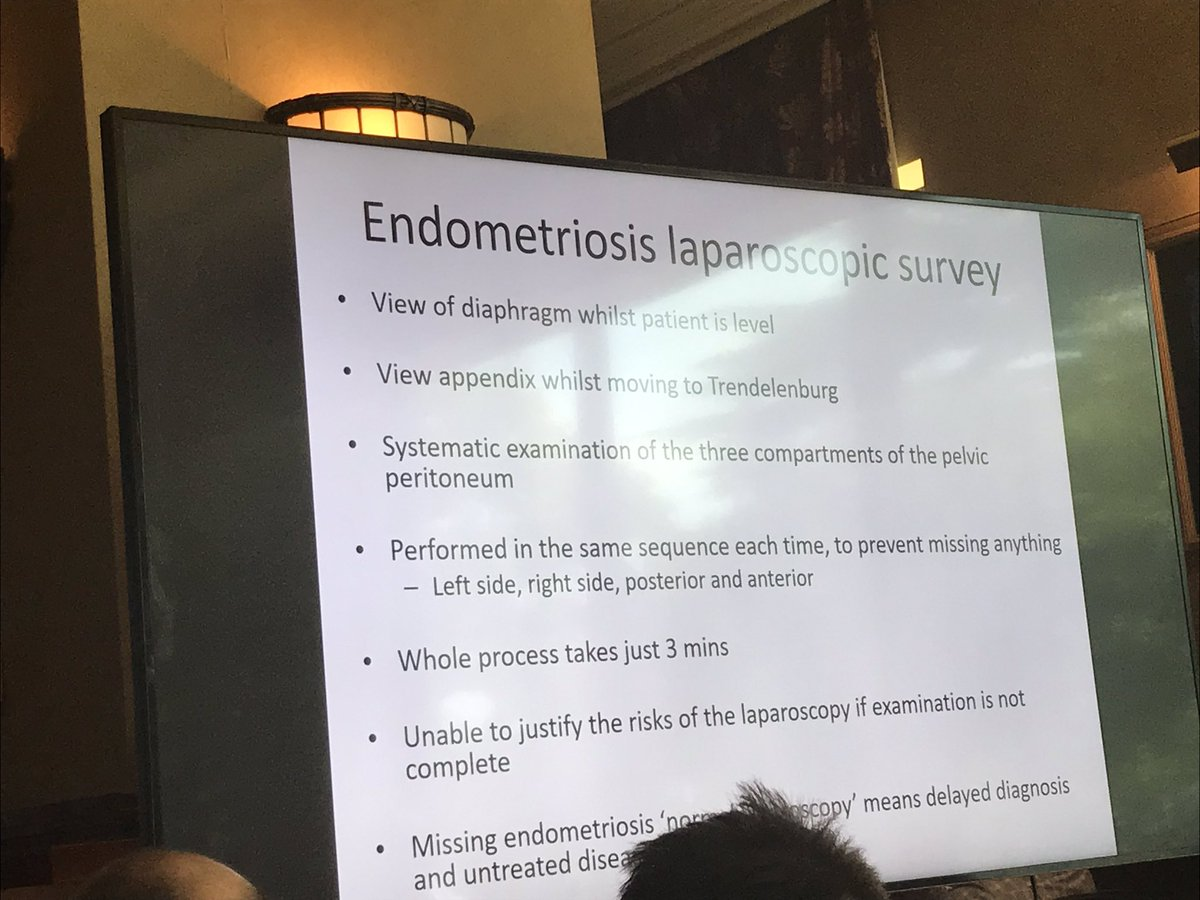 Good laparoscopic survey essential for early and correct diagnosis of #endometriosis #BSGE2019  – at The Celtic Manor Resort