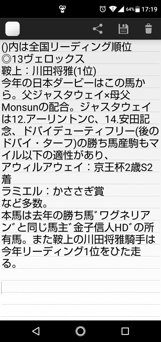 稚拙な文ですが… #日本ダービー #ヴェロックス #ダノンキングリー #サートゥルナーリア