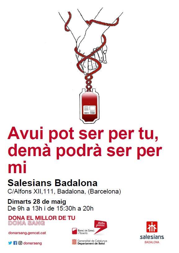 Resultat d'imatges de donació sang salesians badalona