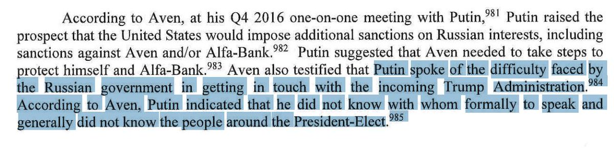 Here&#39;s a Fun Mueller Report Fact:   Investigators not only found #NoCollusion...   They found out Putin complained that it was difficult for the Russian government to get in touch with the Trump administration because they didn&#39;t know anyone who was around the President.<br>http://pic.twitter.com/9tjLKFuVLG
