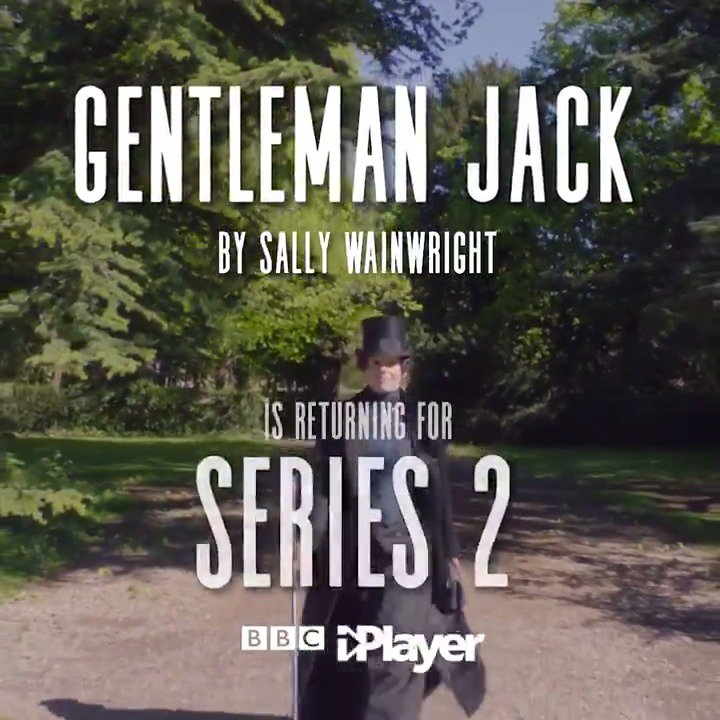 She's determined. She's bold. She's back.  Sally Wainwright's (@spiceyw) #GentlemanJack will return for a second series, starring Suranne Jones, @RundleSophie and @WhelanGemma. http://bbc.in/2WlIefM
