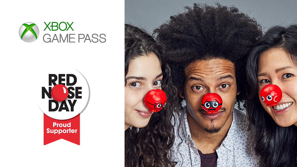 Noses on. Game on. We're supporting #RedNoseDay by donating $1 for new @XboxGamePass sign-ups today.  Plus! Find out more ways to support at @Walgreens: https://xbx.lv/2JCWJpJ
