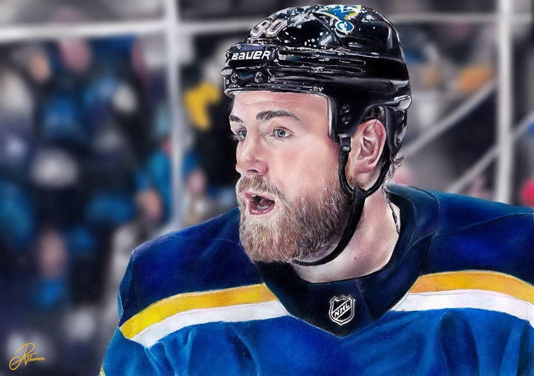 This colored pencil drawing of Ryan O&#39;Reilly is unreal!  #StanleyCup  ( IG/rebeccathomsonart)<br>http://pic.twitter.com/eD4z7oOevK