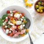 Image for the Tweet beginning: Lobster Caprese Salad by @jennyshearawn