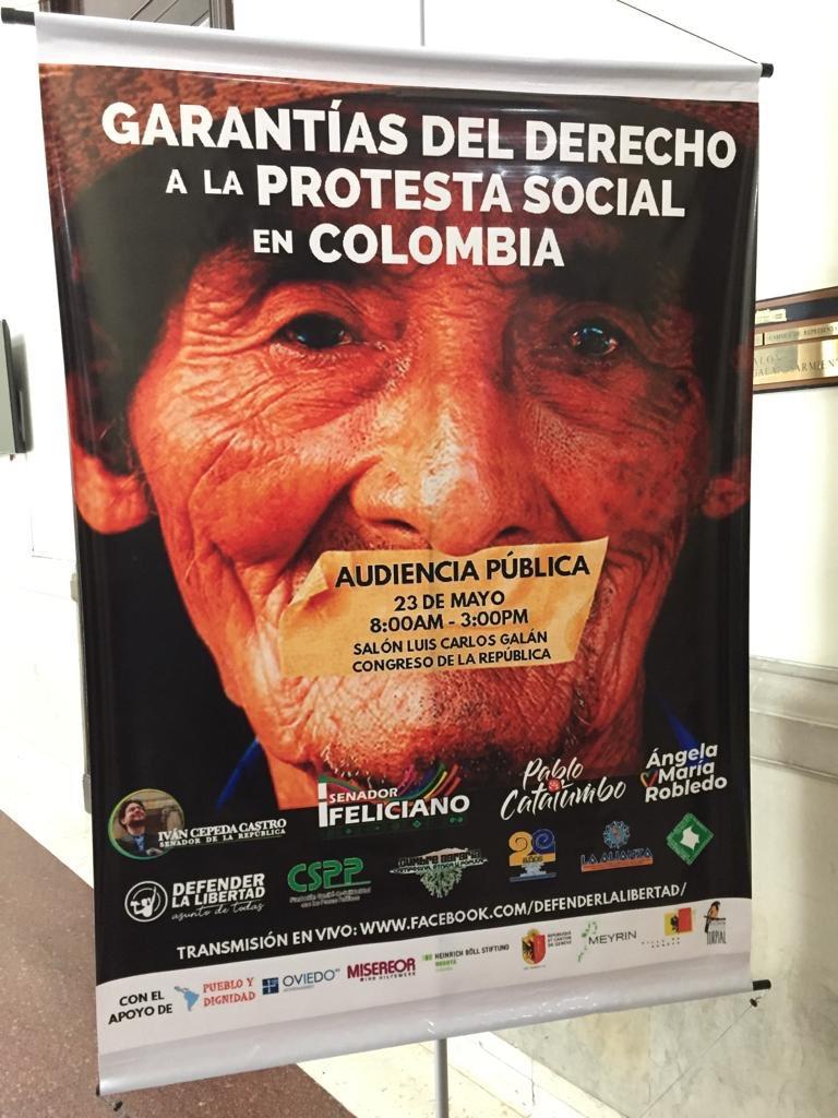 #AEstaHora se lleva a cabo en el Congreso de la República la Audiencia Pública: Garantías para la movilización social en Colombia.#ProtestarEsUnDerecho