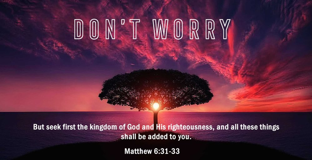 But seek first the Kingdom of God and His Righteousness<br>http://pic.twitter.com/h0e114uOmA