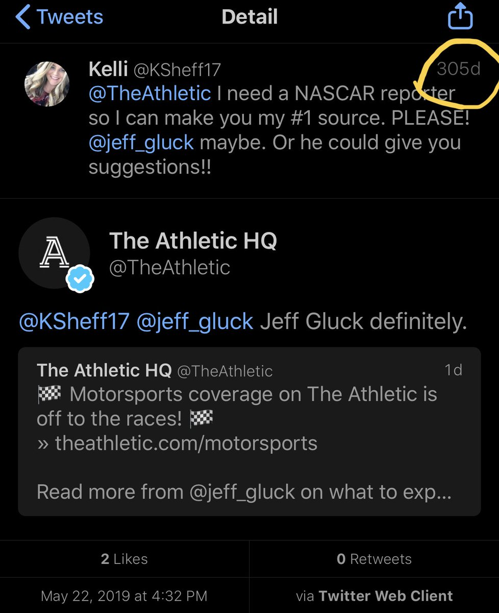 I love the long game going back into the replies here. 😆 @TheAthletic