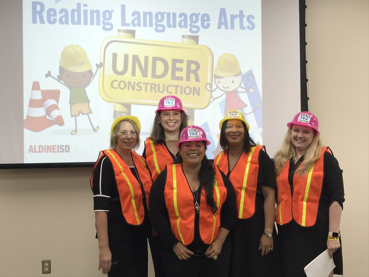 Have you heard @WilsonAISD ....Reading Language Arts is UNDER CONSTRUCTION  @AldineISD #WEdreambig @drgoffney<br>http://pic.twitter.com/o6Pp7SYT5A