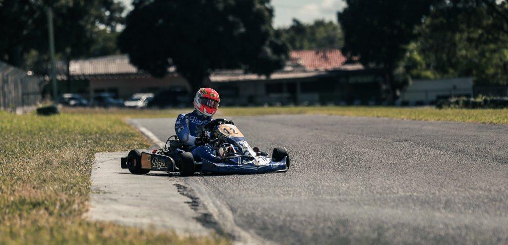 Having fun today!! #karting @PragaGlobal