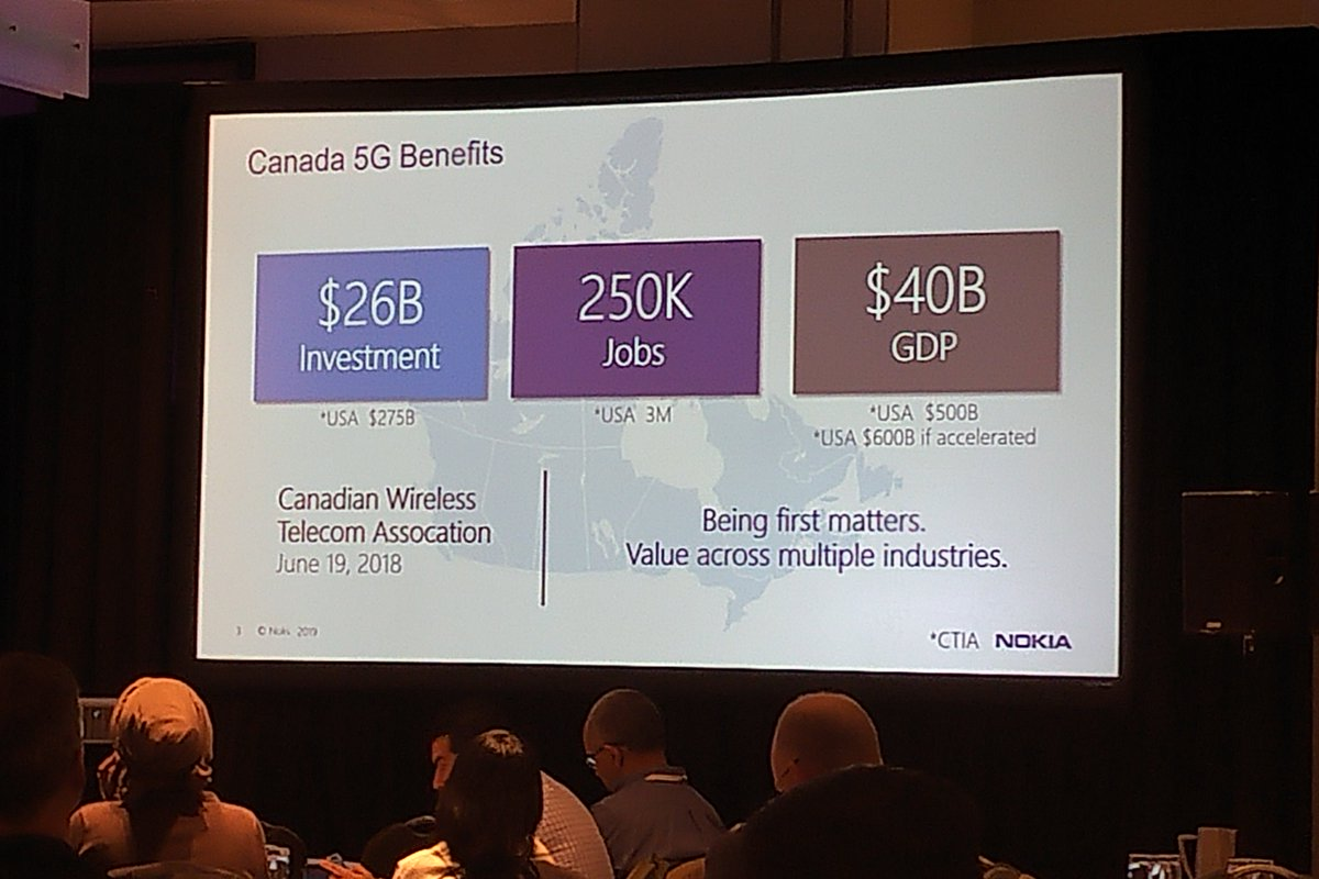 test Twitter Media - Important discussions on the benefits of #5G were presented at the inaugural @nokia Innovation Day. The impact of 5G will be felt across all industries, and in Canada, it will result in 250K jobs and a $40B contribution to Canada's economy annually. https://t.co/uCsbANThlo