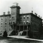 Image for the Tweet beginning: The first dorm on campus,