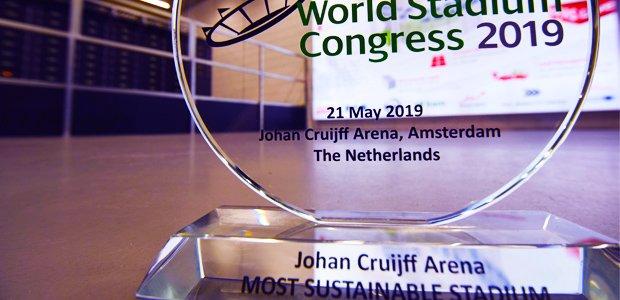 Johan Cruijff ArenA wint Award voor Most Sustainable Stadium!  Lees verder ➡ https://bit.ly/2Qin5xL